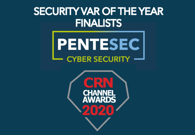 Pentesec Announce our Nomination for Security VAR of the Year 2020
